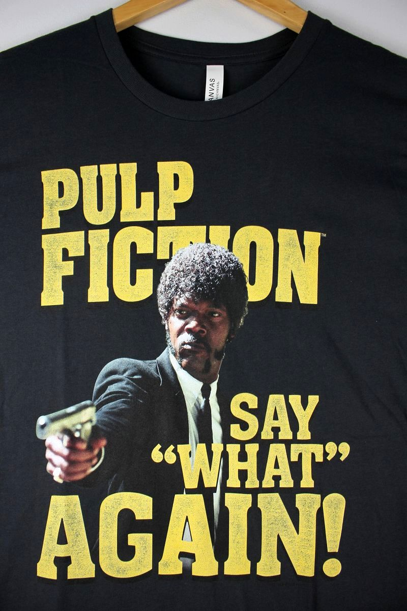 "PULP FICTION / ""SAY WHAT"" Tee / smoke black"