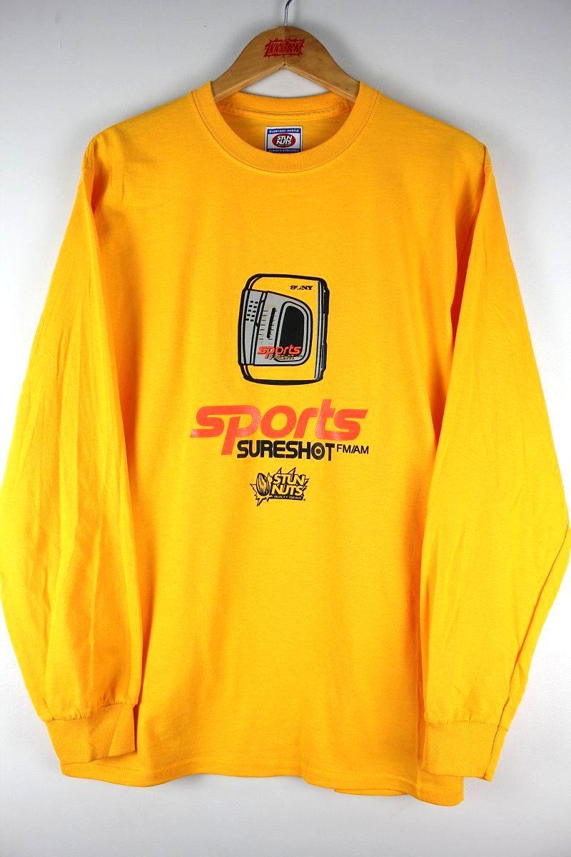 "STUNNUTS / ""SURE SHOT -WALKMAN-"" LS Tee / yellow"