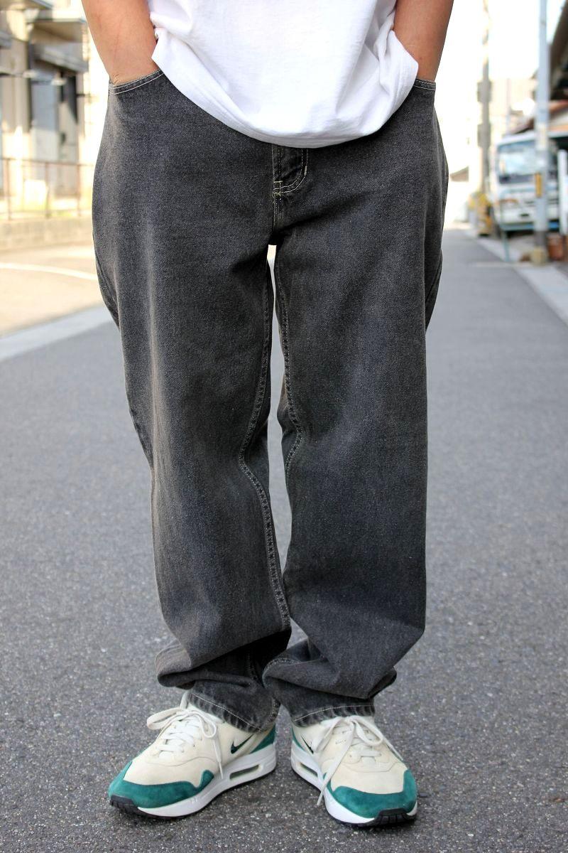 USED!!! TOMMY HILFIGER / LOOSE-FIT DENIM PANTS (90'S) / washed black