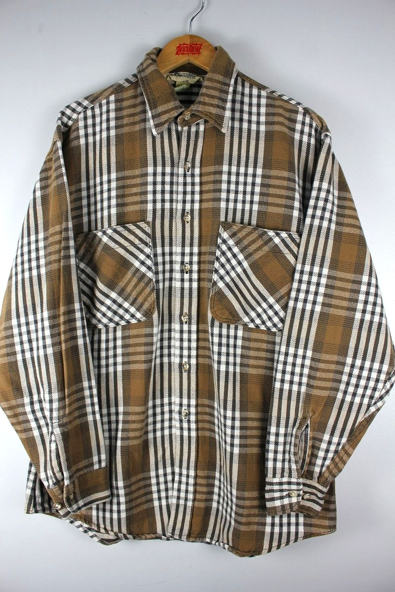 USED!!! ST. JHON'S BAY / PLAID FLANNEL SHIRTS (90'S)