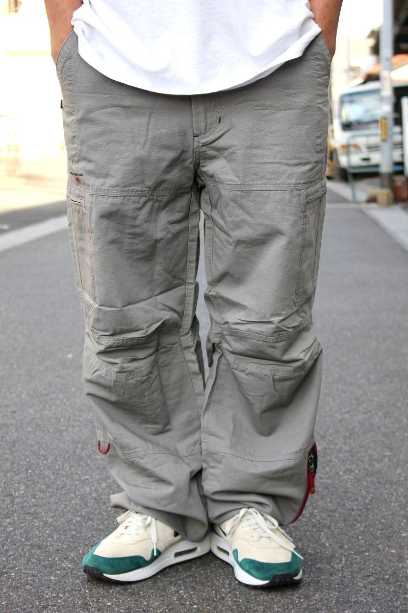 DEADSTOCK!!! TRIPLE FIVE SOUL / 7-POCKET CARGO PANTS (90'S) / grey