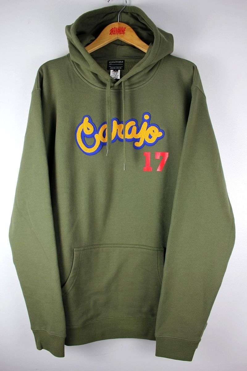 "ACAPULCO GOLD / ""CARAJO"" PULLOVER SWEAT HOODIE / olive"