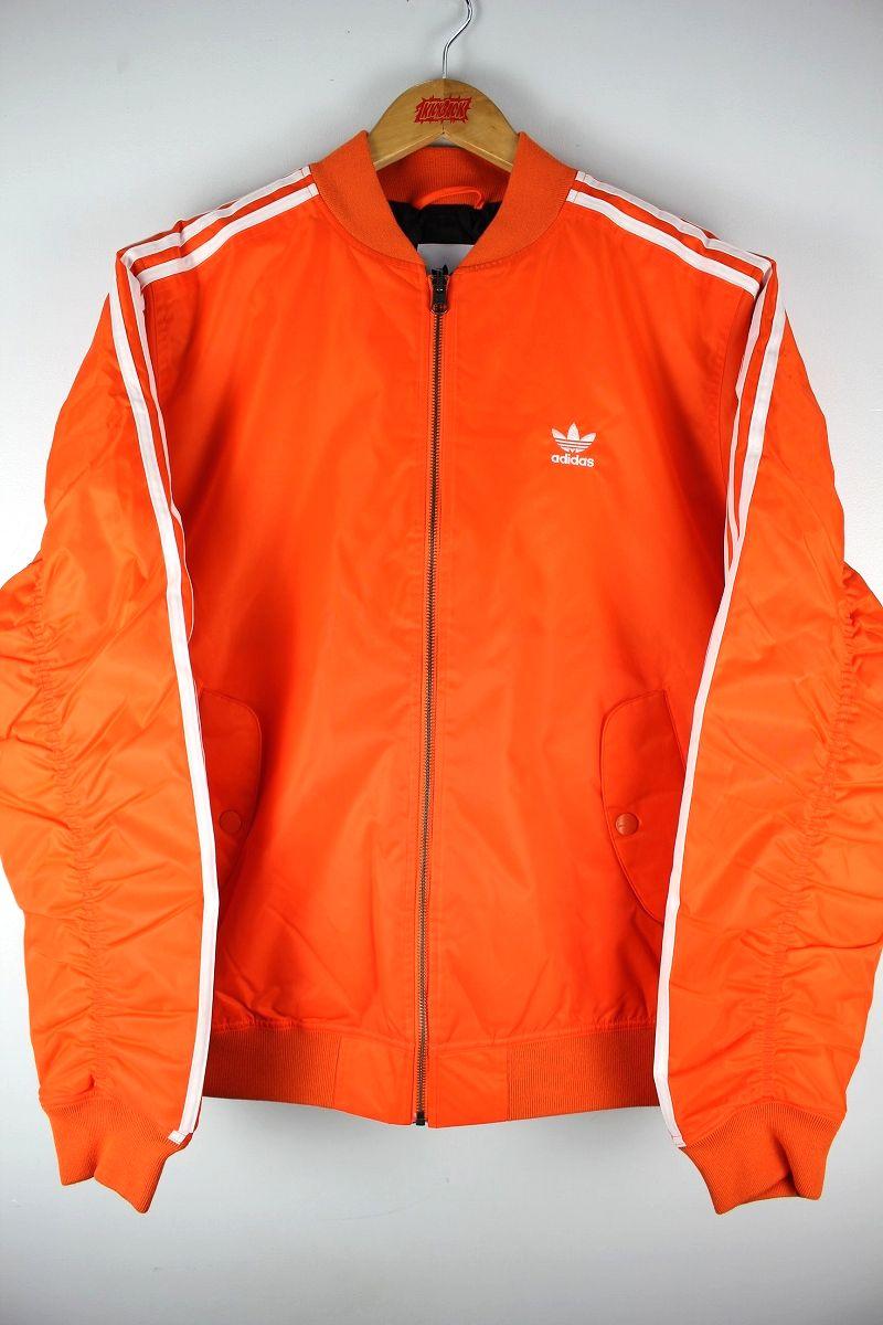 adidas ORIGINALS / BOMBER PADDED JACKET / orange×white