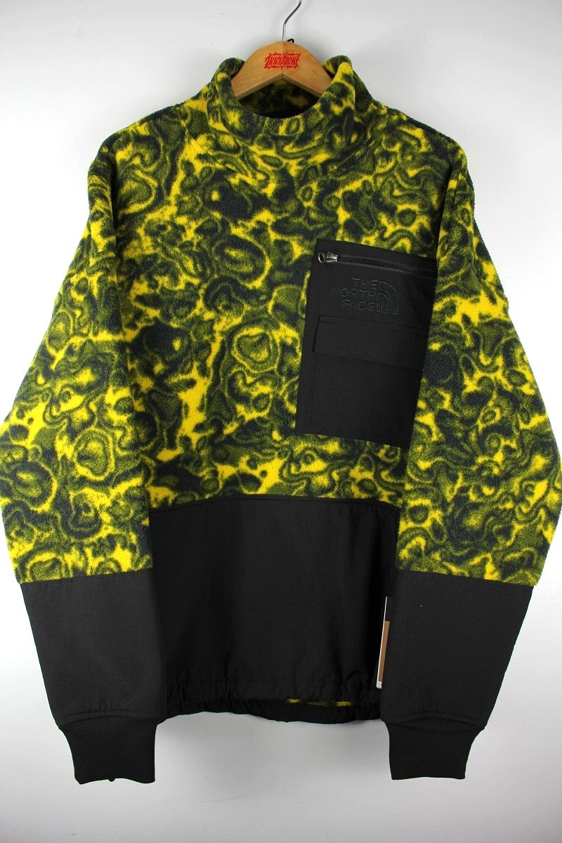 "THE NORTH FACE / ""92 RAGE COLLECTION"" PULLOVER FLEECE JACKET / yellow×black"