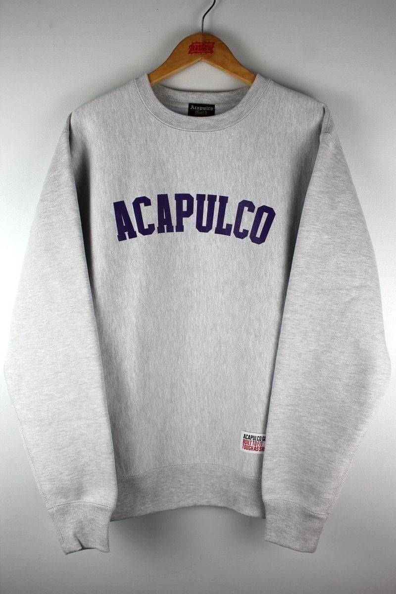 ACAPULCO GOLD / STANDARD LOGO CREWNECK SWEAT / heather grey