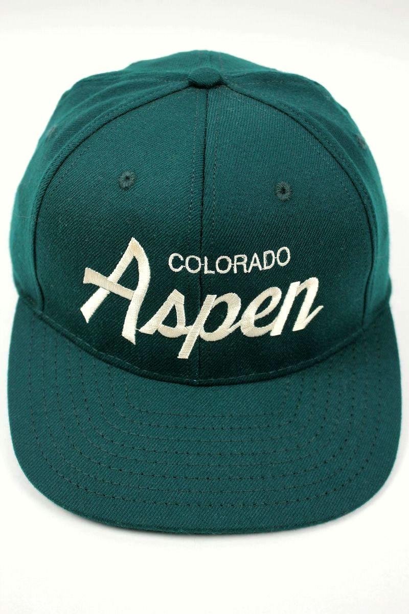 "HOOD HAT / ""COLORADO ASPEN"" SNAPBACK CAP / dark green"
