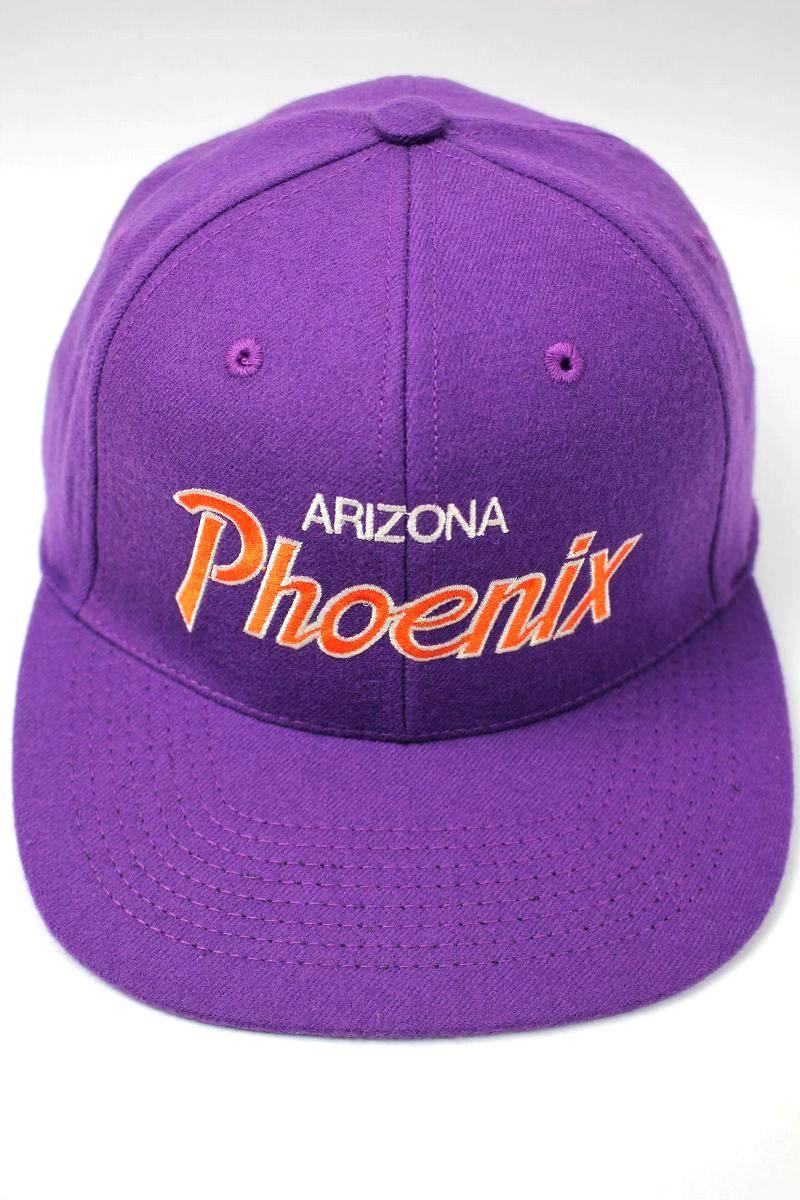 "HOOD HAT / ""ARIZONA PHOENIX"" SNAPBACK CAP / purple"