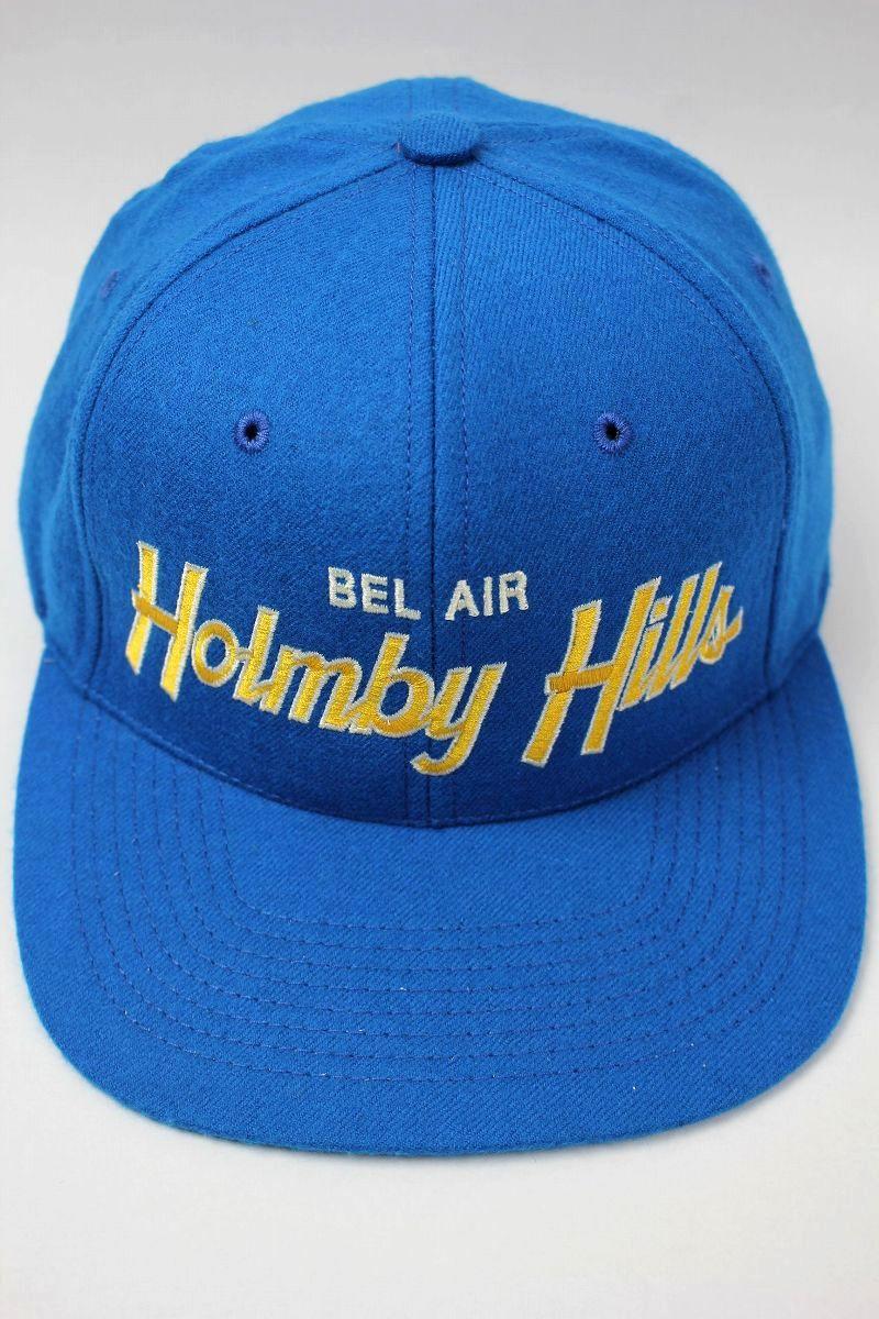 """HOOD HAT / """"BEL AIR HOLMBOY HILLS"""" SNAPBACK CAP / blue"""