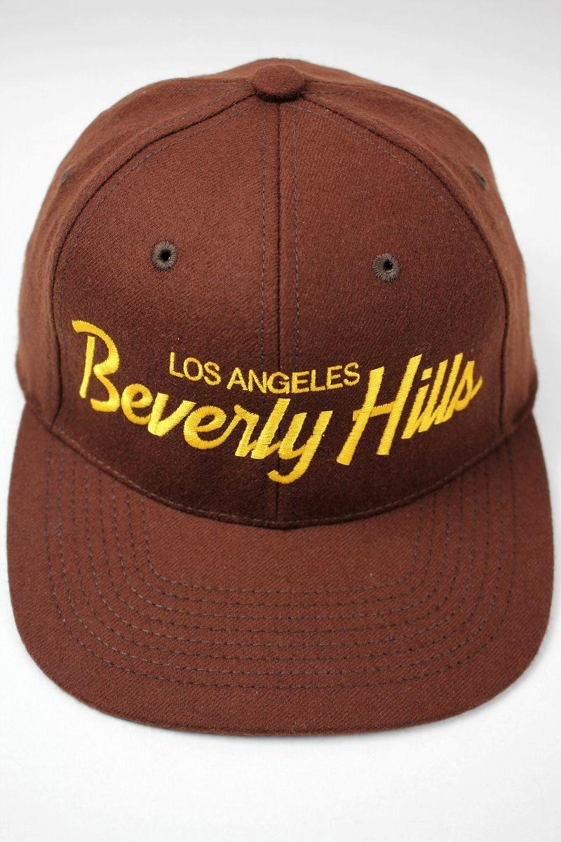"""HOOD HAT / """"LOS ANGELS BEVERLY HILLS"""" SNAPBACK CAP / brown"""