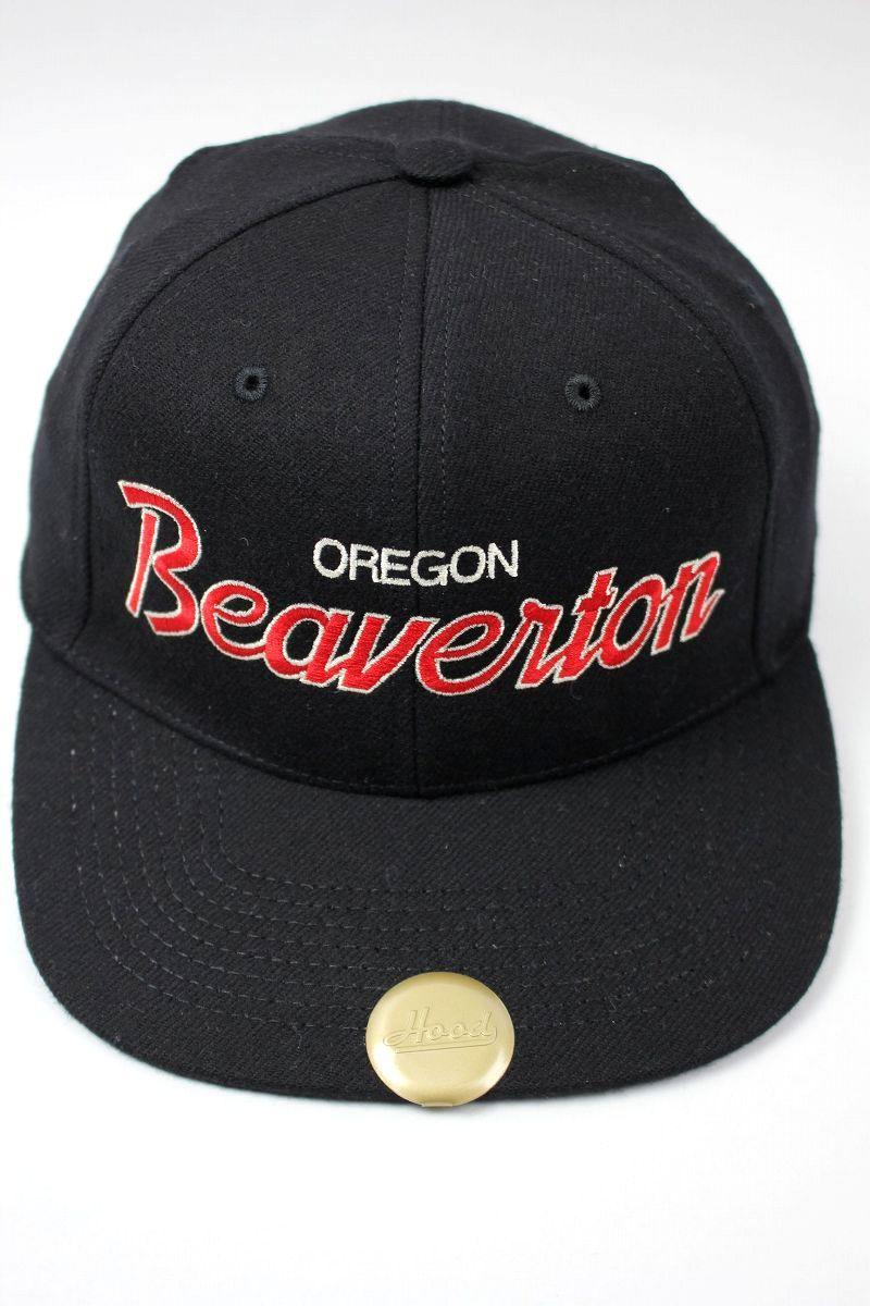 "HOOD HAT / ""BEAVERTON OR"" SNAPBACK CAP / black"