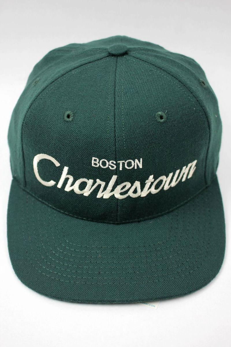 "HOOD HAT / ""CHARLESTOWN MA"" SNAPBACK CAP / dark green"