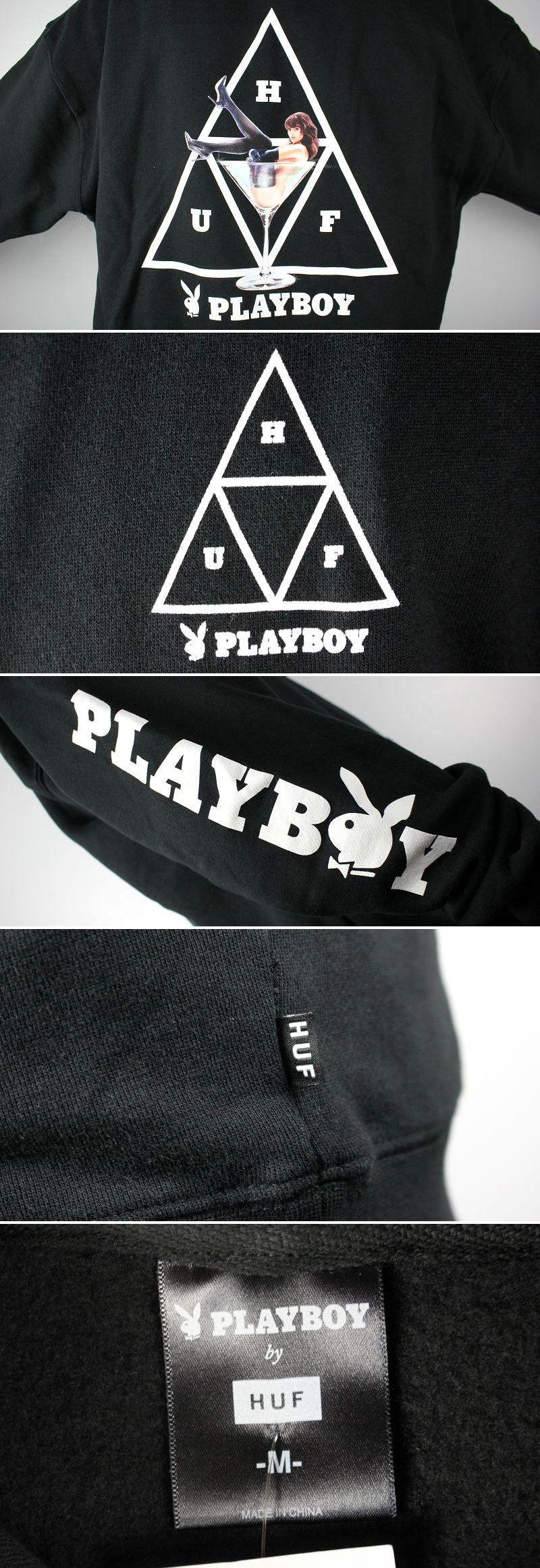 "HUF×PLAYBOY / ""BUNNY TT"" PULLOVER SWEAT HOODIE / black"