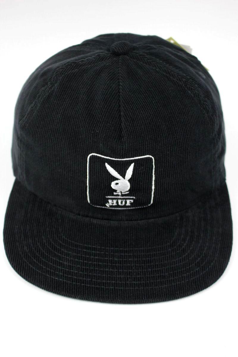 HUF×PLAYBOY / CORDUROY 5-PANEL CAP / black