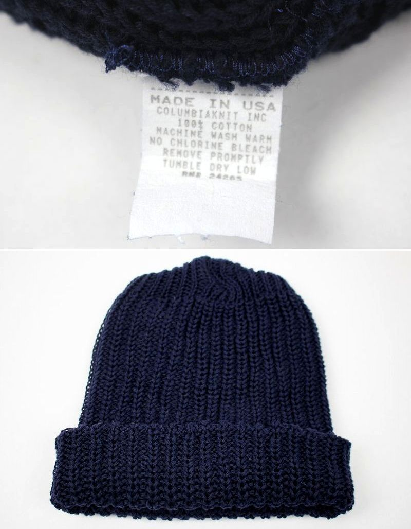 COLUMBIA KNIT / COTTON KNIT BEANIE / navy