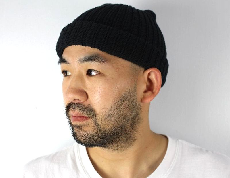 COLUMBIA KNIT / COTTON KNIT BEANIE / black