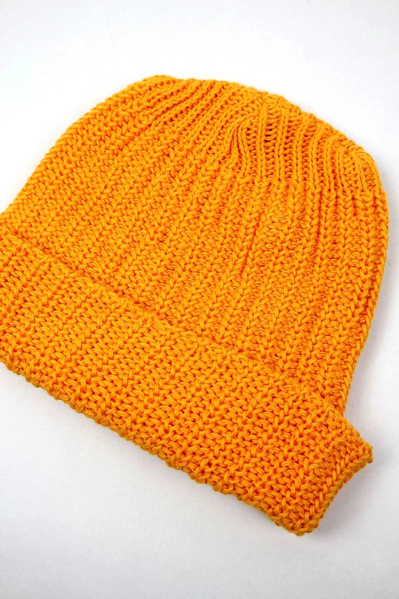 COLUMBIA KNIT / COTTON KNIT BEANIE / yellow