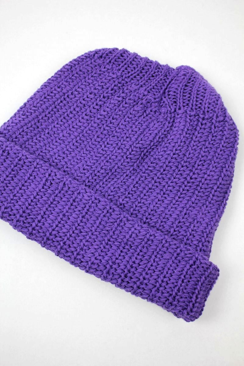 COLUMBIA KNIT / COTTON KNIT BEANIE / purple