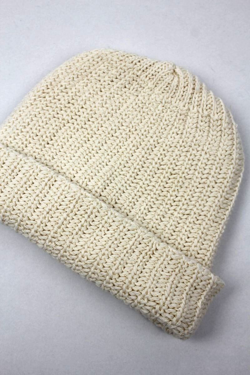 COLUMBIA KNIT / COTTON KNIT BEANIE / off white