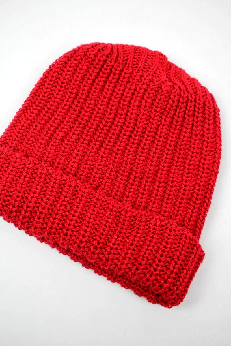 COLUMBIA KNIT / COTTON KNIT BEANIE / red