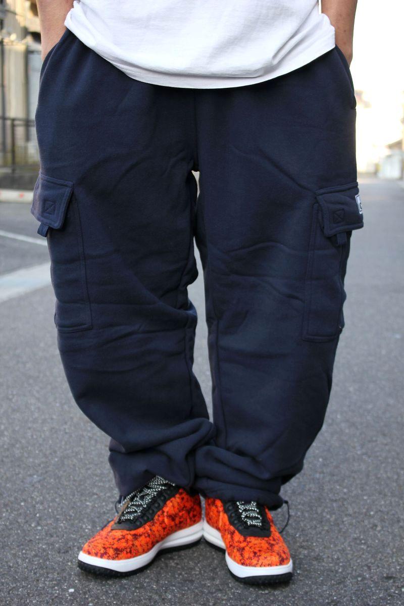 PRO CLUB / HEAVY WEIGHT SWEAT CARGO PANTS / navy