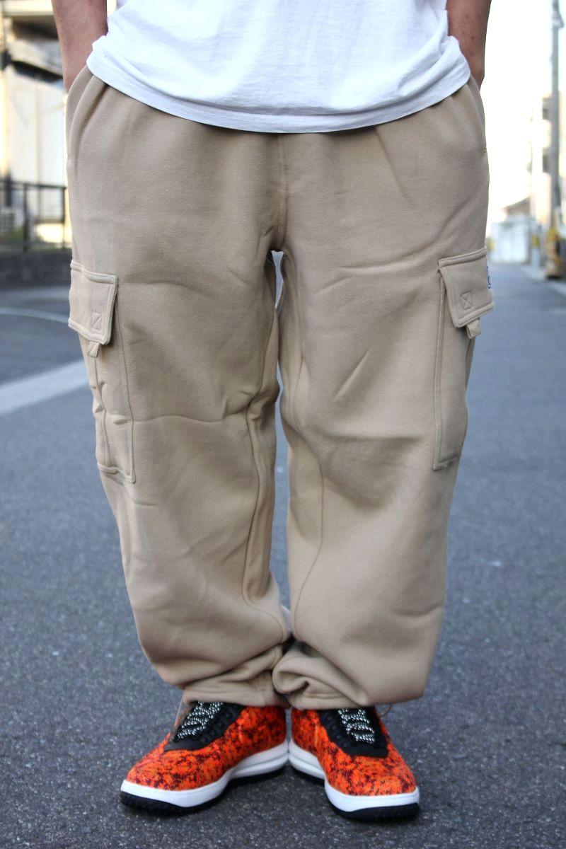 PRO CLUB / HEAVY WEIGHT SWEAT CARGO PANTS / khaki