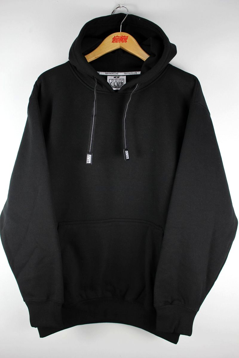 PRO CLUB / HEAVY WEIGHT PULLOVER SWEAT HOODIE / black