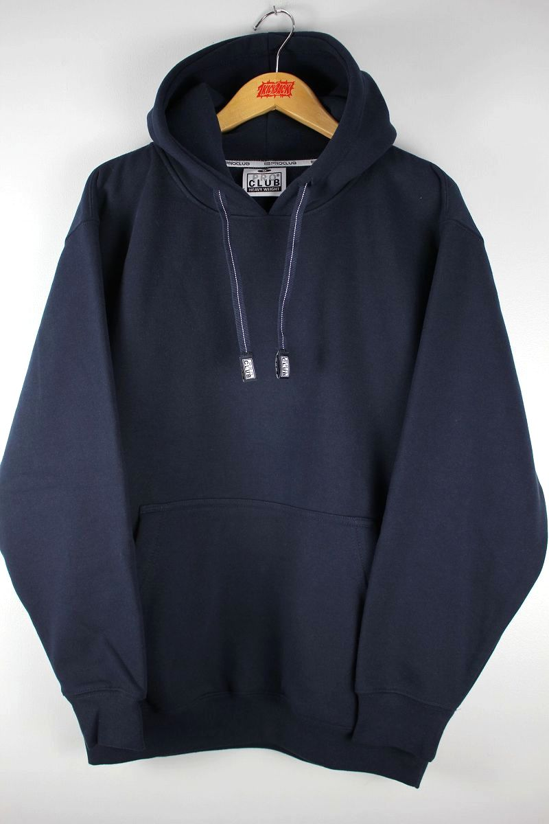 PRO CLUB / HEAVY WEIGHT PULLOVER SWEAT HOODIE / navy