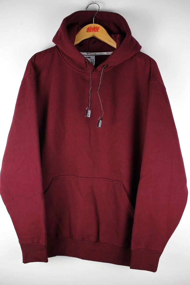 PRO CLUB / HEAVY WEIGHT PULLOVER SWEAT HOODIE / burgundy
