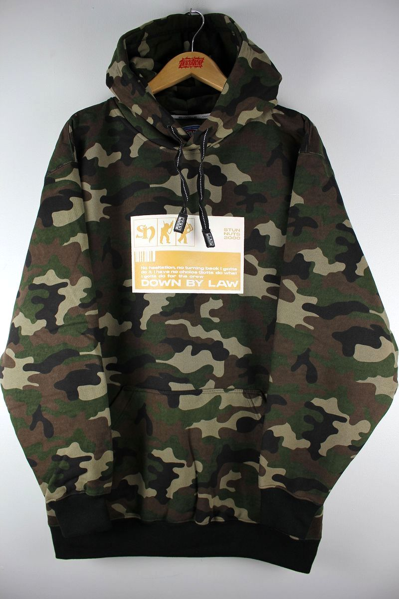 "STUNNUTS / ""FUTURE BUM -DOWN BY LAW-"" PULLOVER SWEAT HOODIE / woodland camo"