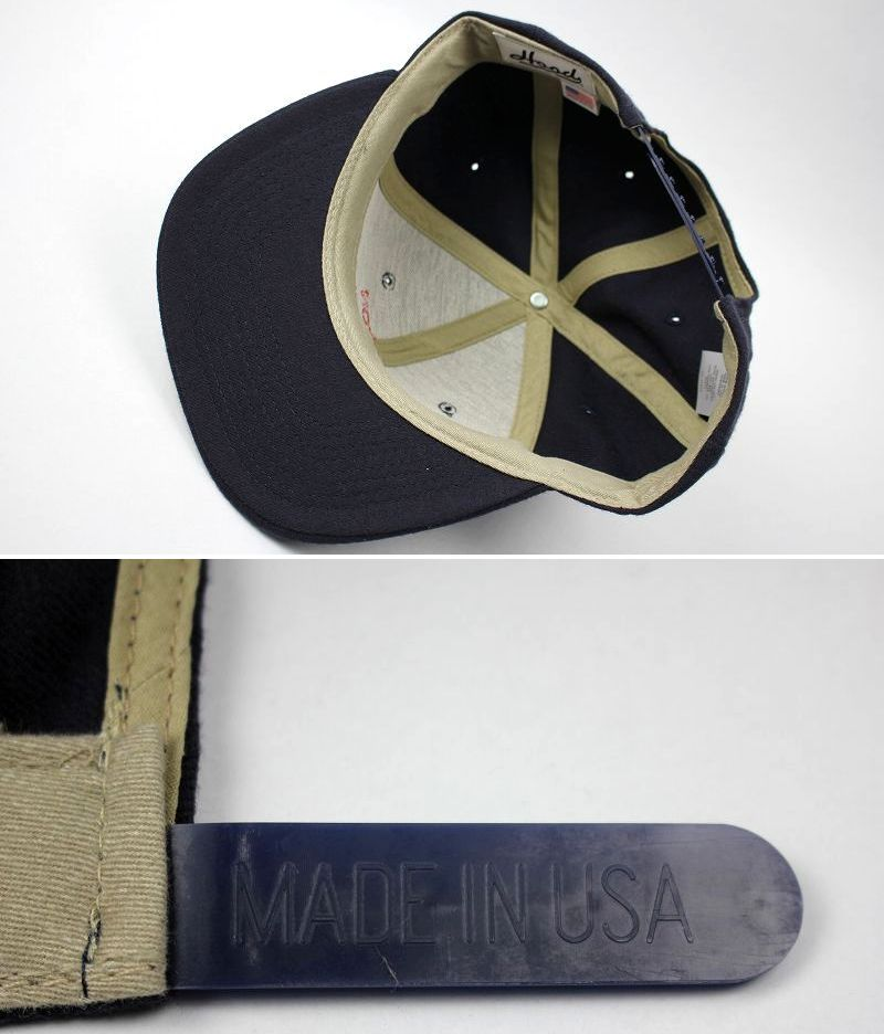 "HOOD HAT / ""FENWAY MA"" SNAPBACK CAP / dark navy"