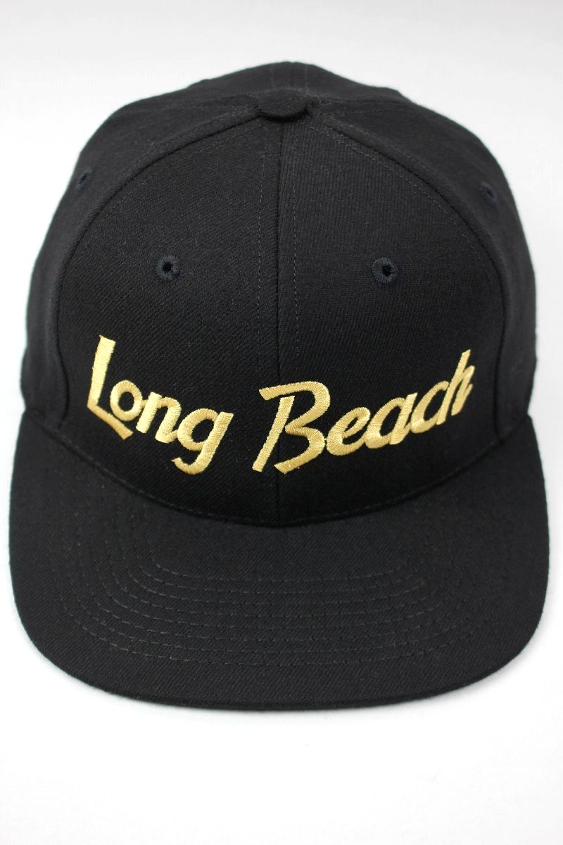 "HOOD HAT / ""LONG BEACH CA"" SNAPBACK CAP / black"