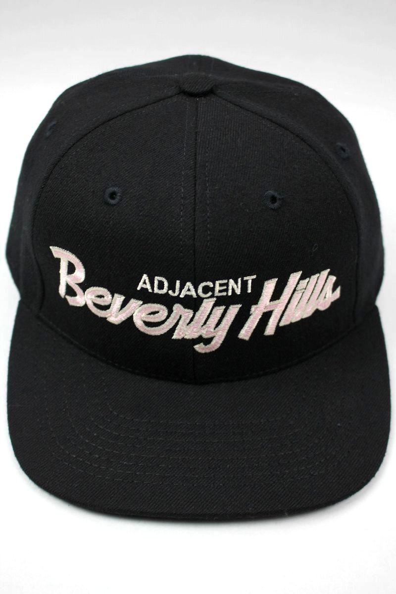 """HOOD HAT / """"ADJACENT BEVERLY HILLS CA"""" SNAPBACK CAP / black"""