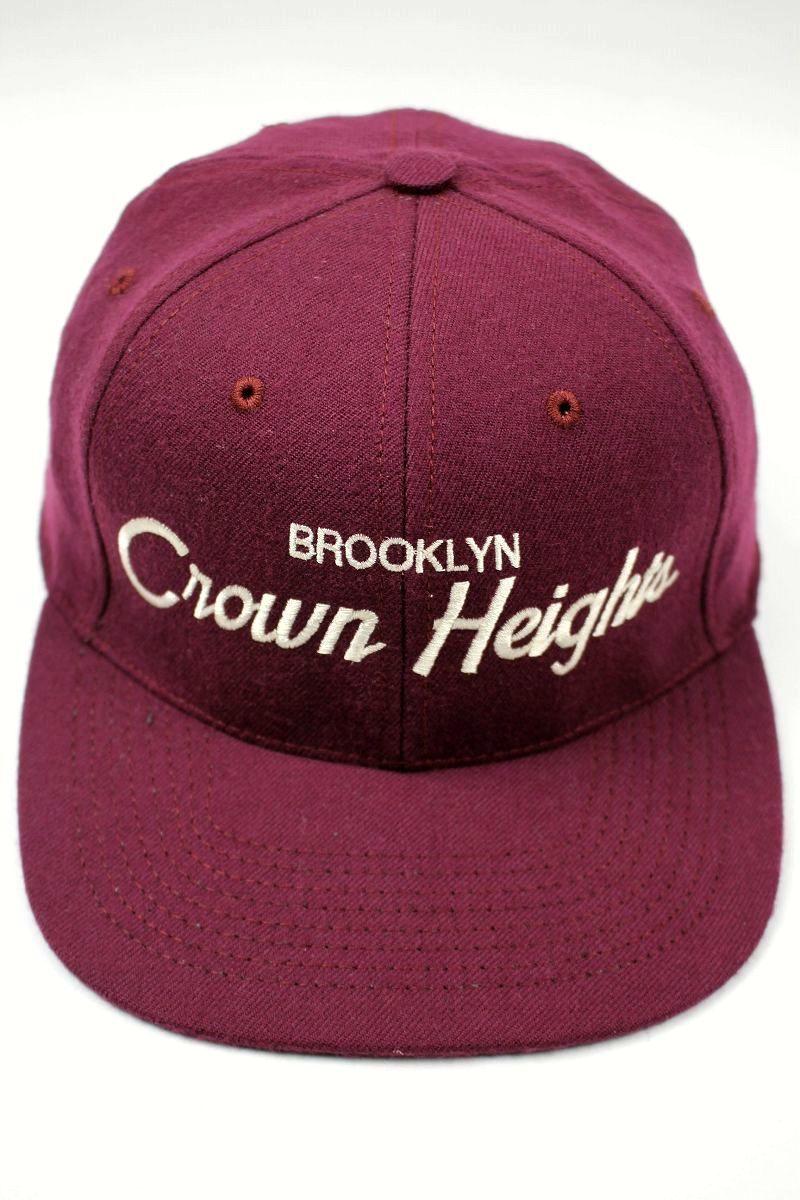 """HOOD HAT / """"CROWN HEIGHTS NY"""" SNAPBACK CAP / burgundy"""