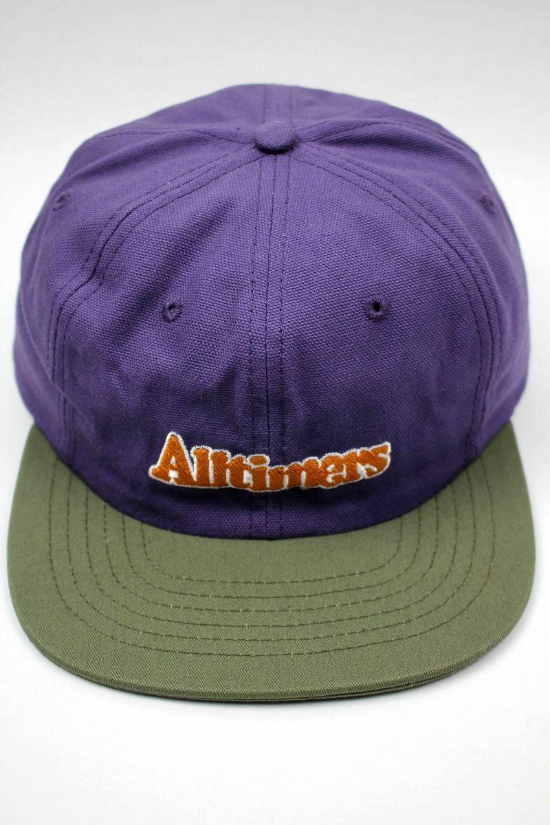 "ALLTIMERS / ""BROADWAY"" SNAPBACK CAP / dark purple×olive"