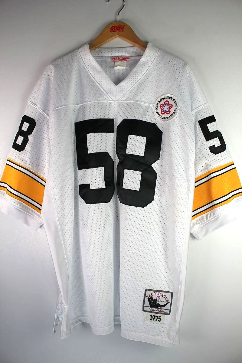 "USED!!! MITCHELL&NESS / ""PITTSBURGH STEELERS"" FOOTBALL JERSEY (90'S) / white×yellow"