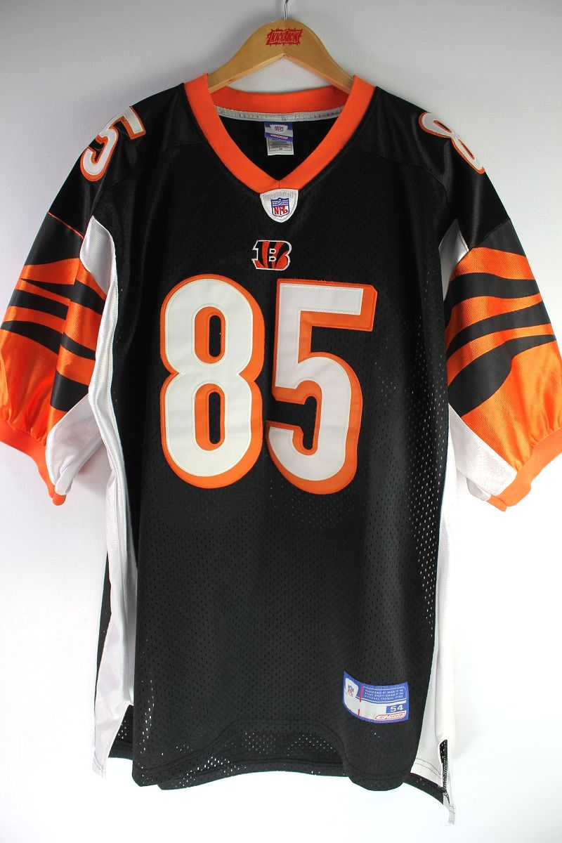 "USED!!! REEBOK / ""CINCINNATI BENGALS"" FOOTBALL JERSEY (00'S) / black×orange"