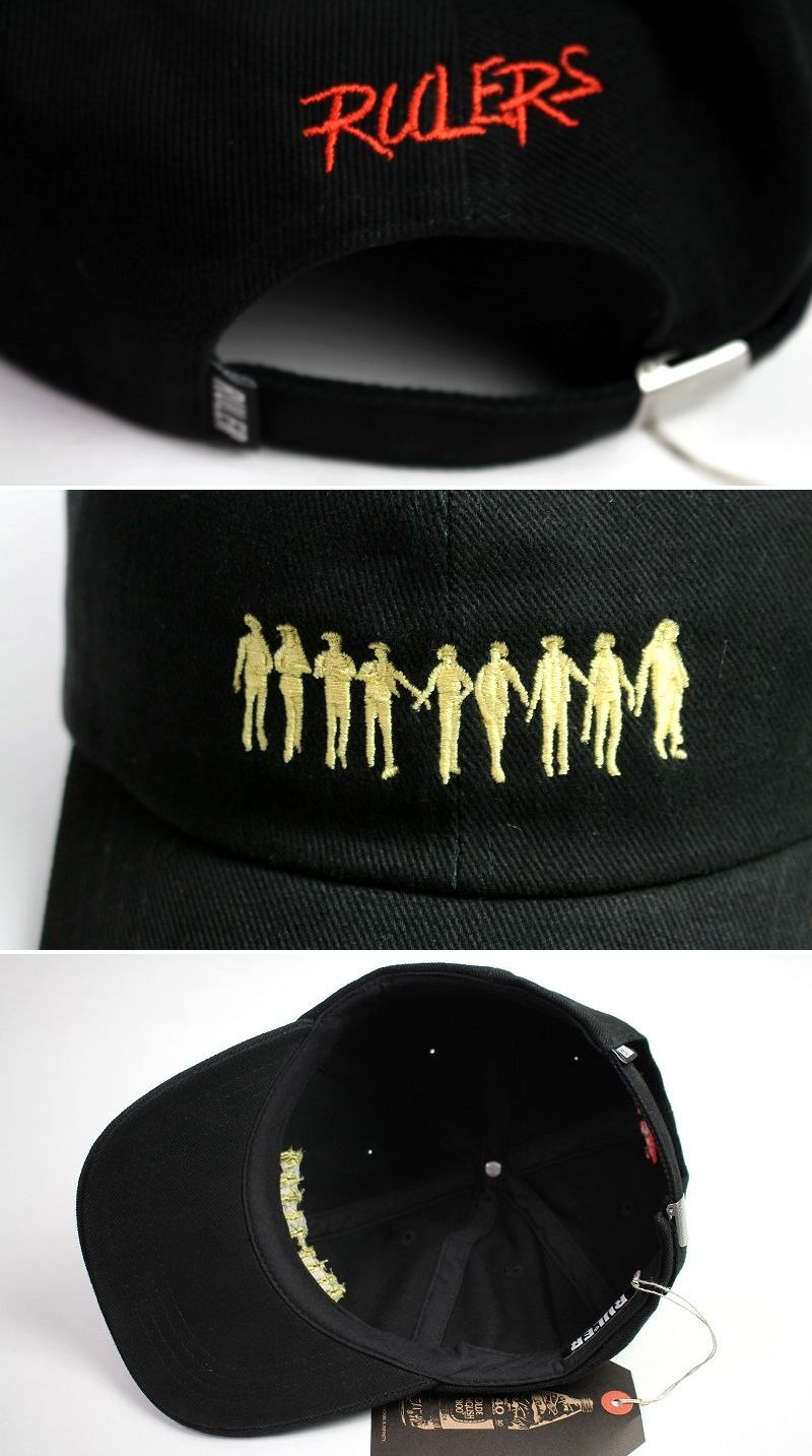 "RULER / ""ROCKERS"" LOW PROFILE BASEBALL CAP / black"