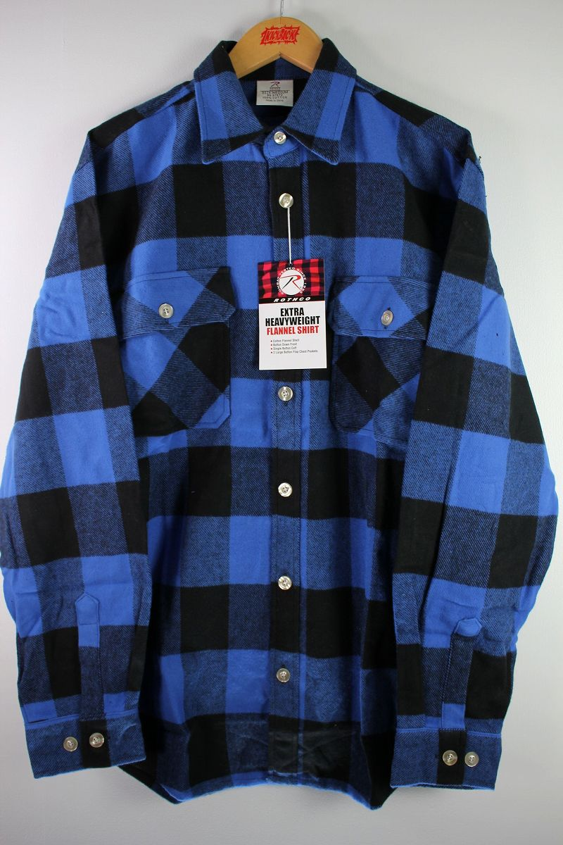 ROTHCO / EXTRA HEAVYWEIGHT FLANNEL SHIRTS / blue×black