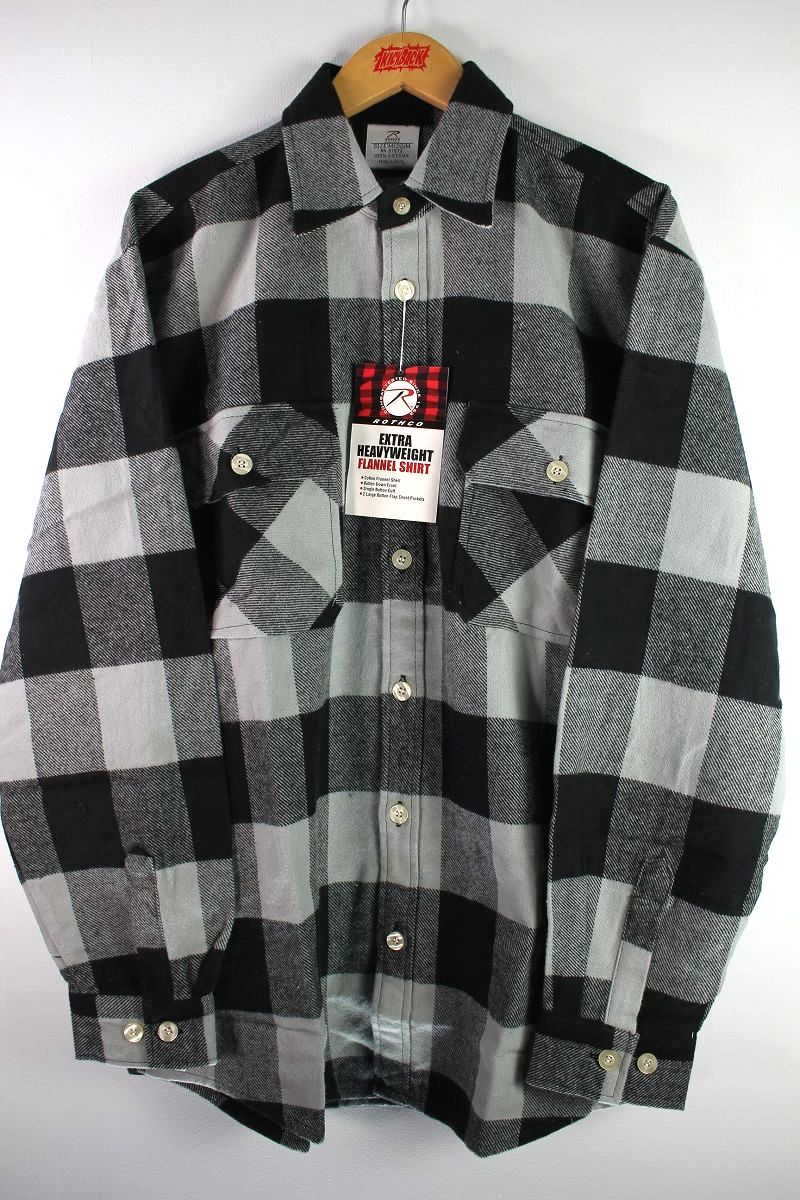 ROTHCO / EXTRA HEAVYWEIGHT FLANNEL SHIRTS / grey×black