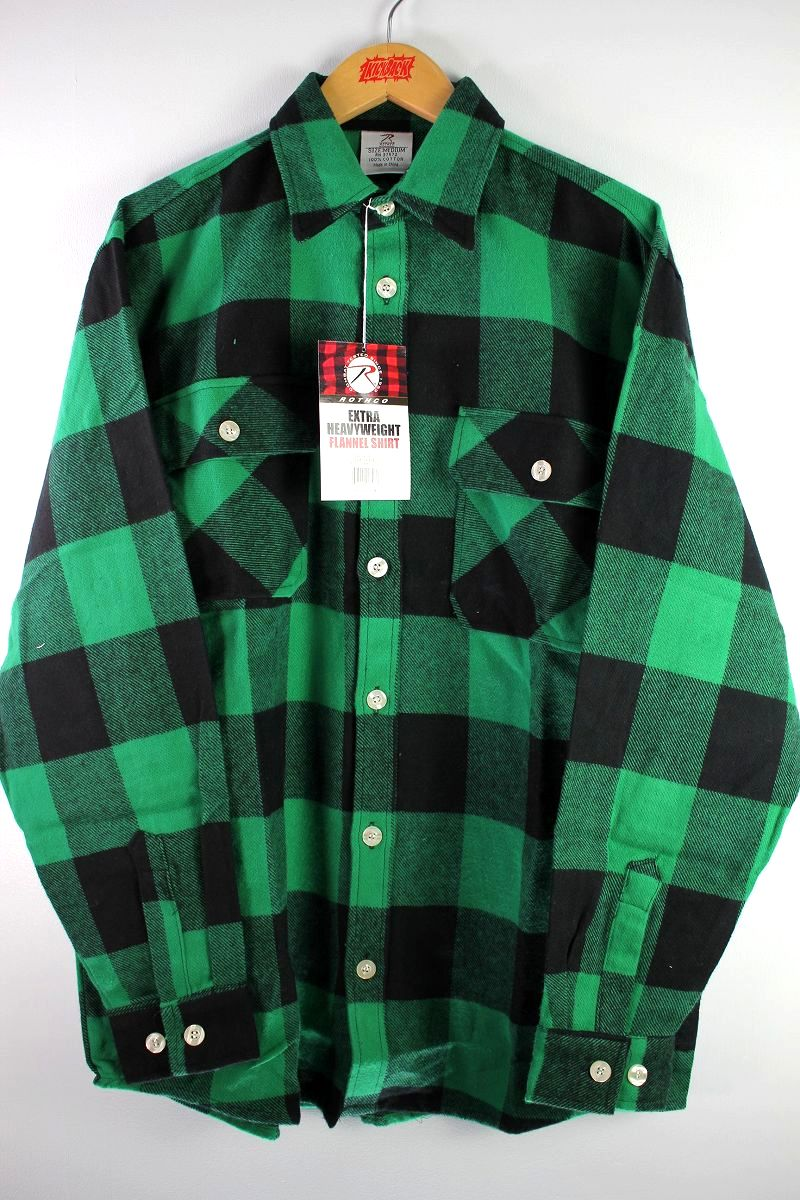 ROTHCO / EXTRA HEAVYWEIGHT FLANNEL SHIRTS / green×black
