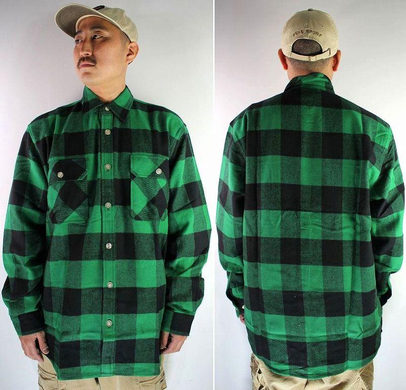ROTHCO / EXTRA HEAVYWEIGHT FLANNEL SHIRTS / green×black