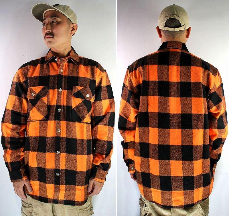 ROTHCO / EXTRA HEAVYWEIGHT FLANNEL SHIRTS / orange×black
