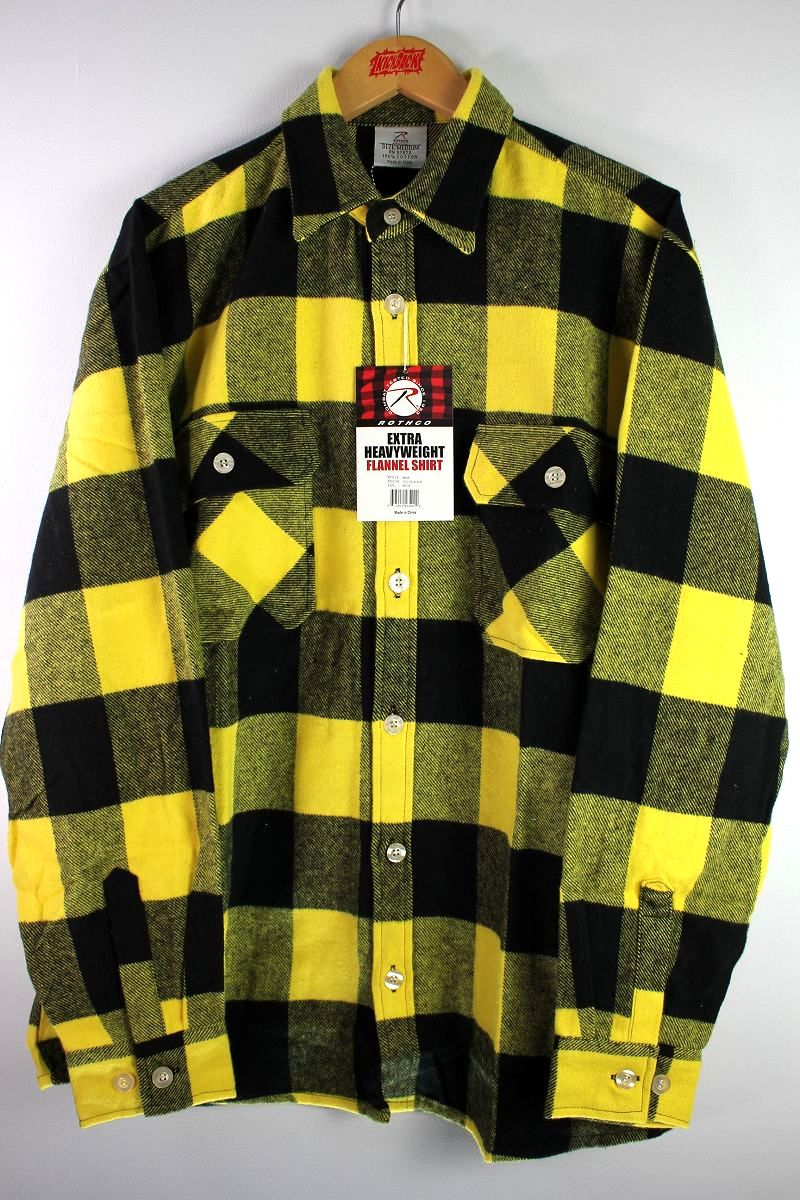 ROTHCO / EXTRA HEAVYWEIGHT FLANNEL SHIRTS / yellow×black