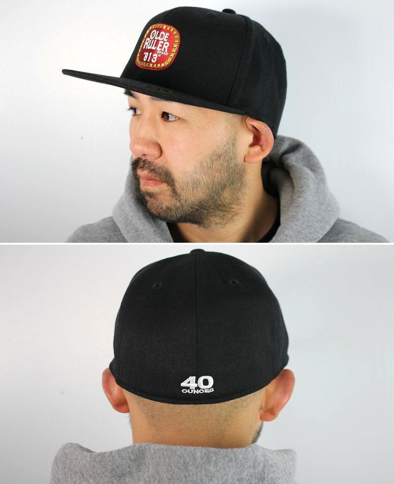 "RULER / ""OE813"" FITTED BASEBALL CAP / black"