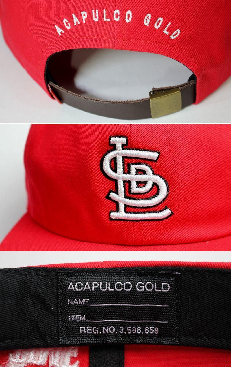 "ACAPULCO GOLD / ""LSD"" STRAPBACK CAP / red"