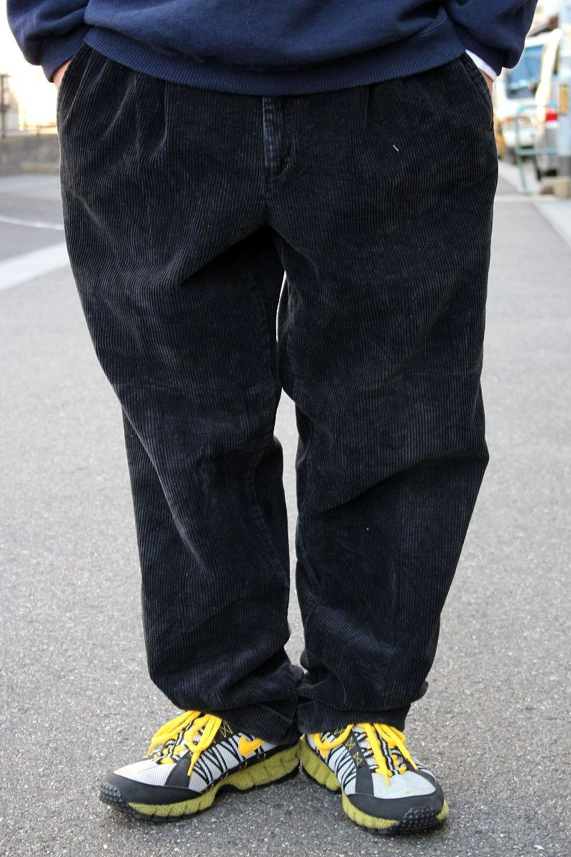 USED!!! NATURAL ISSUE / WIDE WALE CORDUROY PANTS (90'S) / black