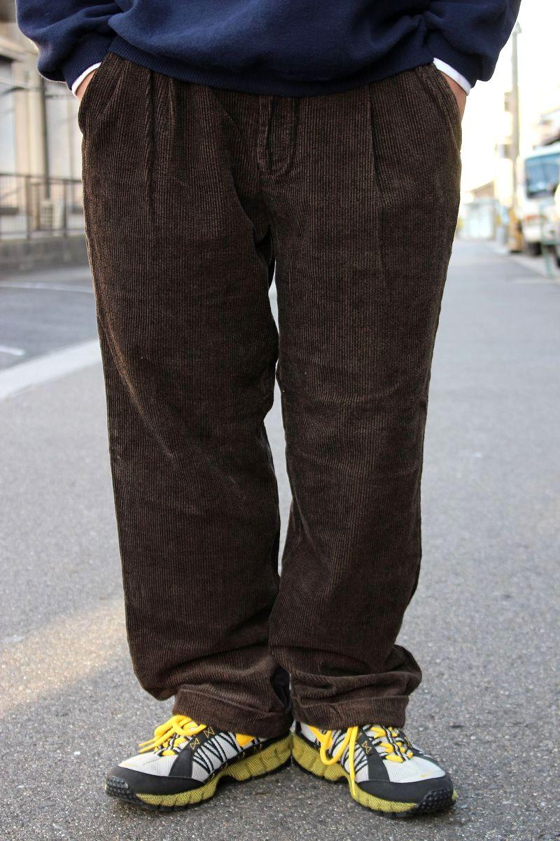 USED!!! BARACUTA / WIDE WALE CORDUROY PANTS (90'S) / dark brown