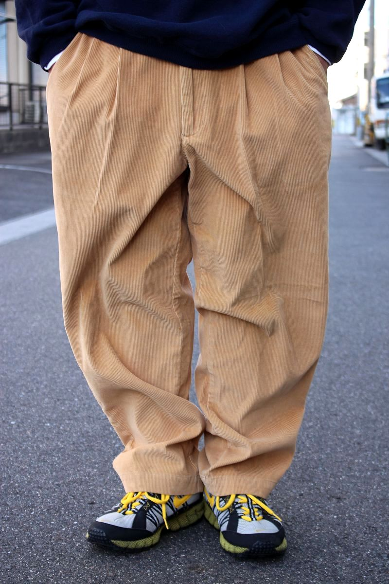 USED!!! TOMMY HILFIGER / WIDE WALE CORDUROY PANTS (90'S) / beige