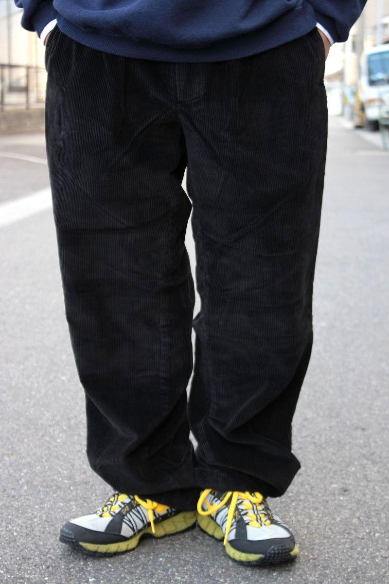 USED!!! NAUTICA / WIDE WALE CORDUROY PANTS (90'S) / black