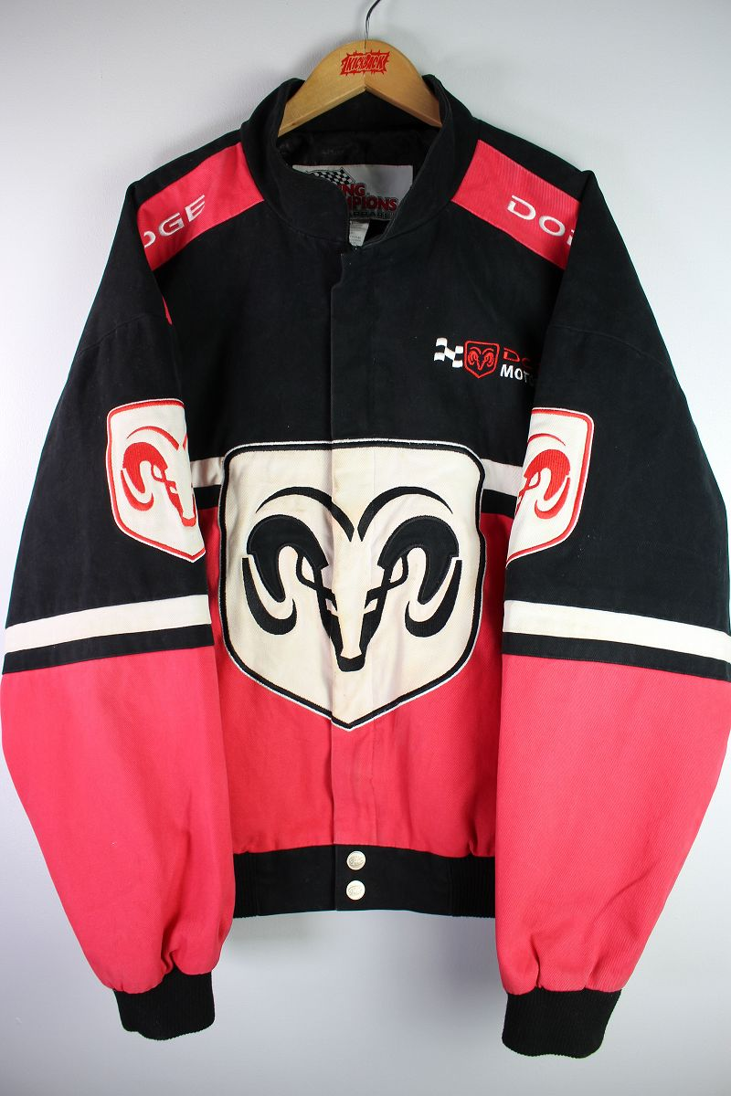 USED!!! RACING CHAMPION APPAREL / RACING JACKET (90'S) / black×red×white